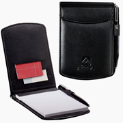 Black Faux Leather Junior Pad Holder