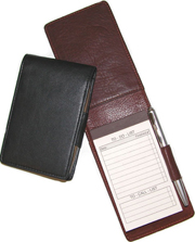 Junior Leather Fold Over NotePad Holders