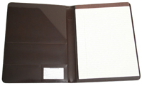 Leather Writing Padfolio Inside in Chestnut Leather